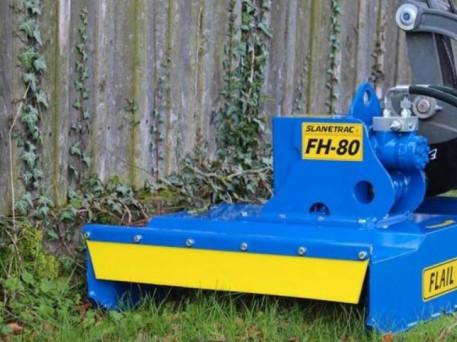 The Slanetrac FH100 Mini Digger Flail Cutter Attachment