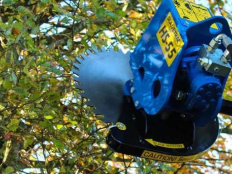 The Slanetrac HS55 Mini Digger Saw Head Attachment