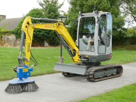The Slanetrac RB Series Mini Digger Block Paving Brush Cleaner Attachment