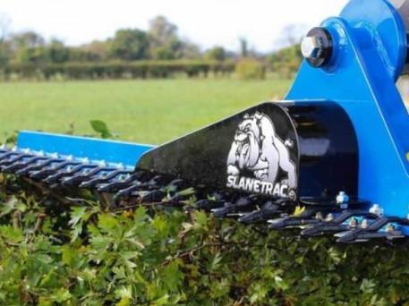 The Slanetrac HC150 Mini Digger Finger Bar Hedge Cutter Attachment