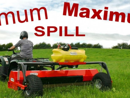 NEW QUAD X TWIN ROLLER WEED EXTERMINATOR
